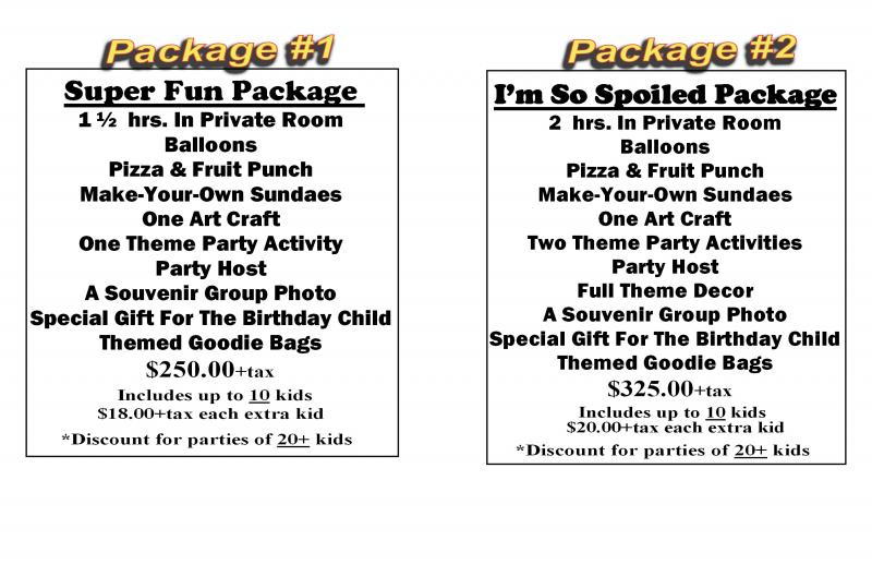 The Party Place Timmins KIDS BIRTHDAY PARTY PACKAGES